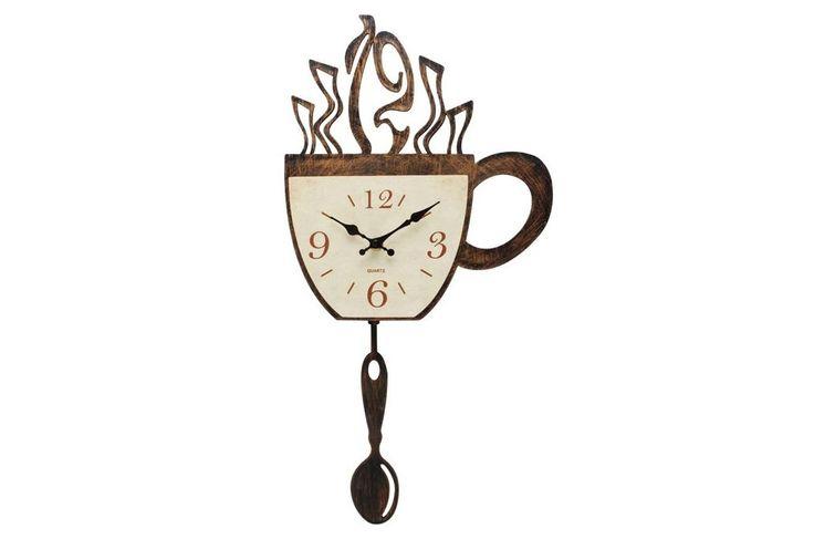 Ceas de perete material plastic Coffee O'Clock