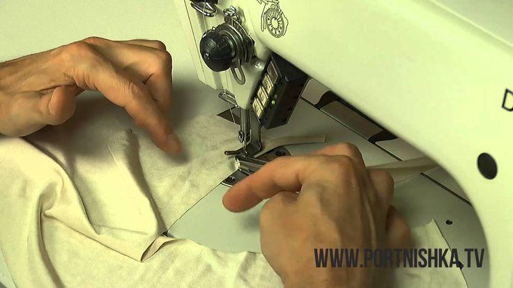 Как обработать край трикотажа на швейной машинке при помощи окантователя. Шитье и крой с Сергеем Карауловым http://www.portnishka.tv Форум учеников http://ww...