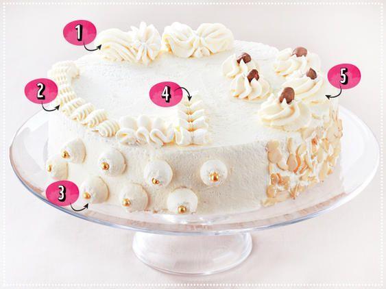 Kuchen mit Sahne, Marzipan und Fondant dekorieren – kochen & backen – # backen …