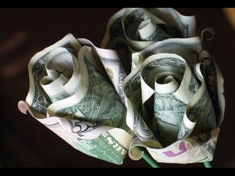 ORIGAMI: Rosas hechas con billetes | Superholly - YouTube