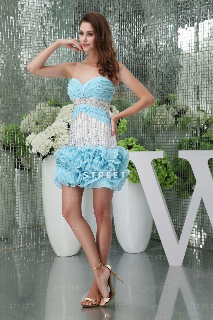 10 best awesome light blue bridesmaid dresses designs images on lovely sheath sweetheart short light sky blue chiffon ruffled hot bridesmaid dress ombrellifo Choice Image