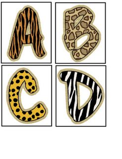 Different letters of the alphabet printed like different animals for each book they read (ex. Title of the book starts with H so they would get a Hyena print H)