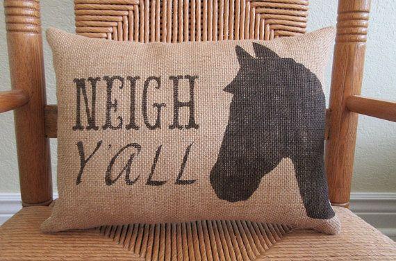 Horse pillow Farm pillow Farmhouse decor Country pillow