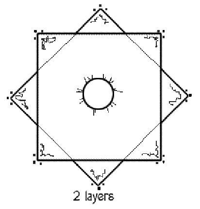 Diagram Illustrating How to Make a Handkerchief Skirt