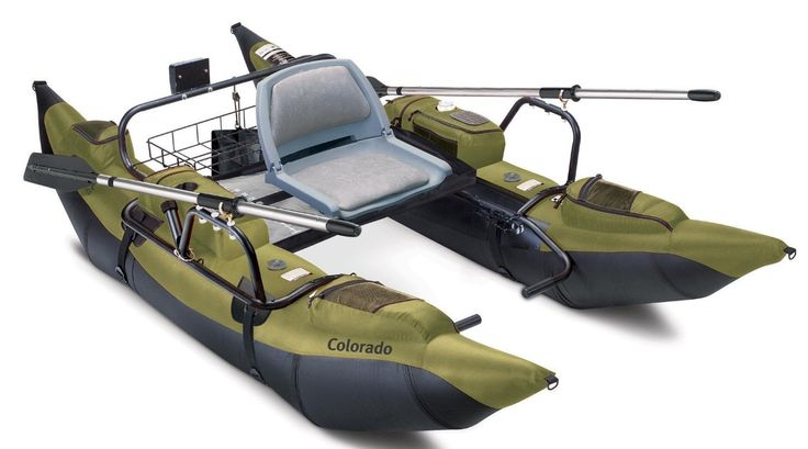 Amazon.com : Classic Accessories Colorado Inflatable Pontoon Boat With Motor Mount : Fishing Boats : Sports & Outdoors