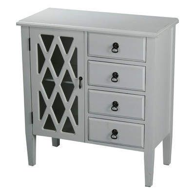 Best Wayfair 4 Drawer Accent Cabinet Glass Grille Carved 640 x 480