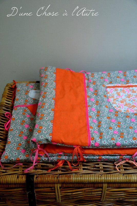 tour de lit tissu petit pan