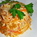 рис с болгарским перцем и морковью
