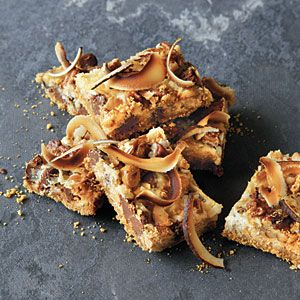 Hello Dolly Bars   MyRecipes.com   These bar cookies are also known as seven-layer bars. They take less than 30 minutes to make and call for just 8 ingredients, making Hello Dolly Bars the perfect dessert for taking along, well, just about anywhere!