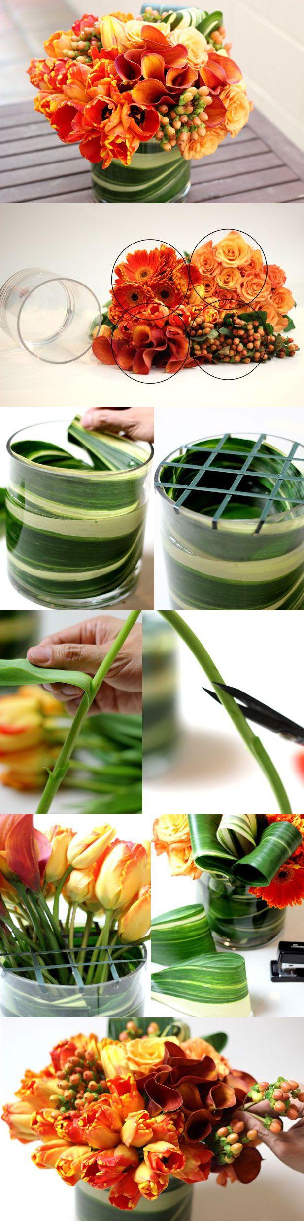 Arrange like a pro in 10 easy steps! by ehow #DIY #Flower_Arranging