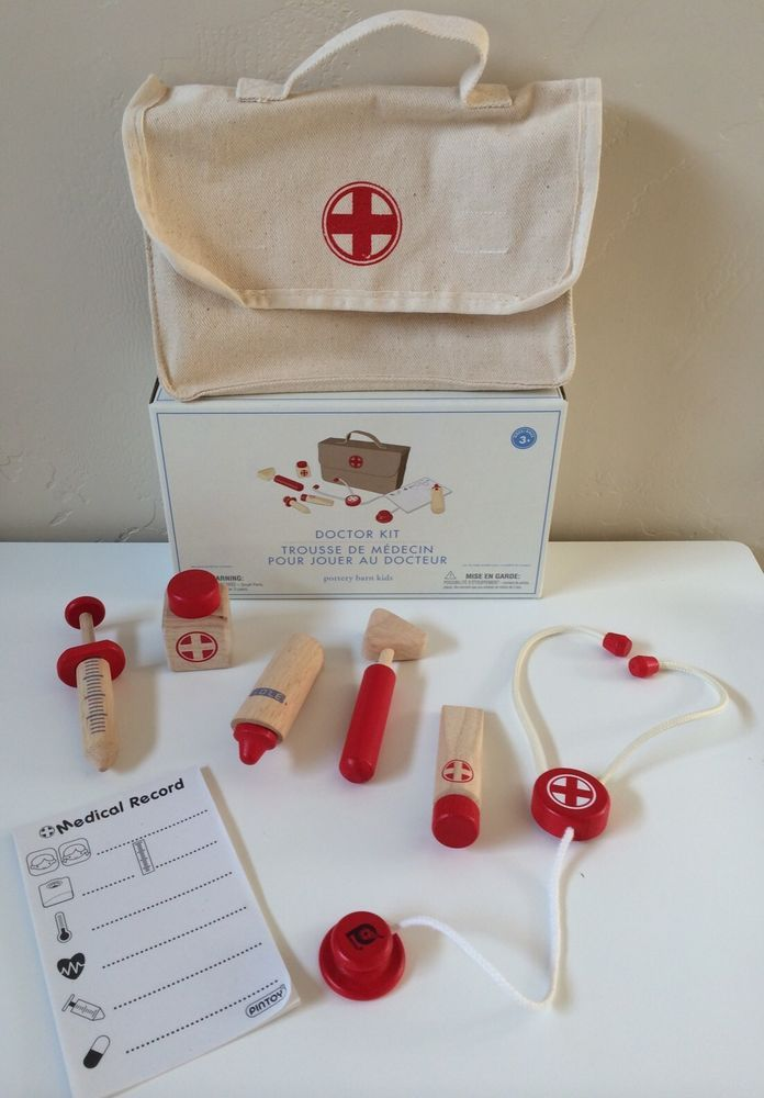 Pottery Barn Kids Doctor Kit New Play Medical Set