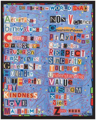 Cut up some letters from magazines and newspapers and design a Kindness collage! We love this one with kind words