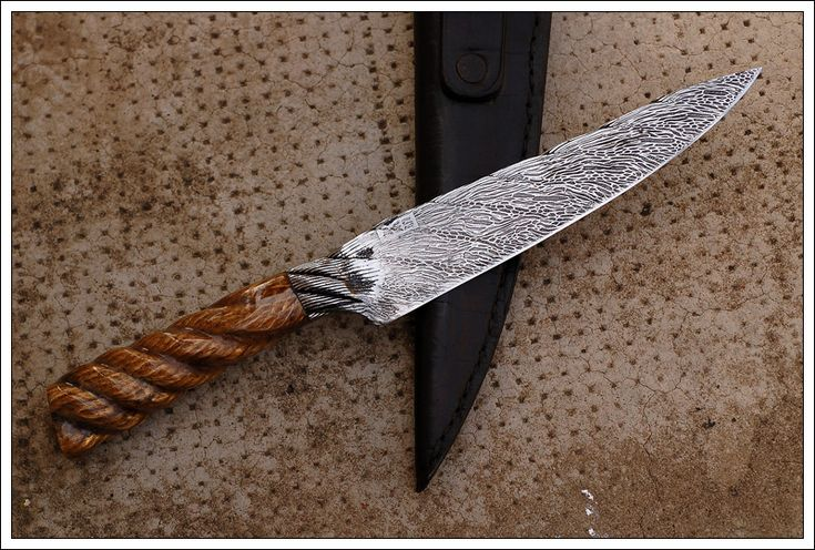 Integral Cable Damascus Criollo Knife with Rope Handle - The Knife Network Forums : Knife Making Discussions