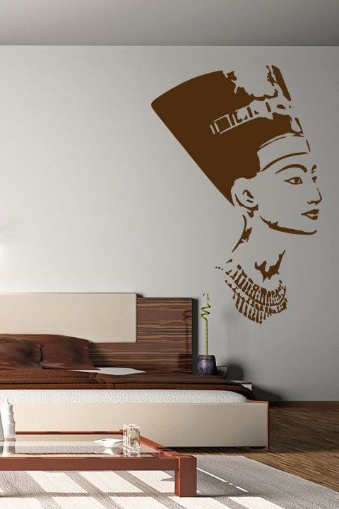 Nefertiti Wall Sticker. The beautiful Egyptian queen when adorned on your decors gives in a feeling of royalty, sophistication and gorgeousness. It's undoubtedly the best ever wall design to treat your wives or daughters and make them feel beautiful and queenly. http://walliv.com/nefertiti-wall-sticker-art-decal
