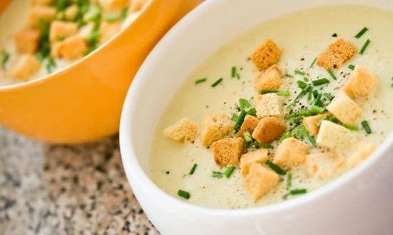 Картофельный суп крем с беконом
