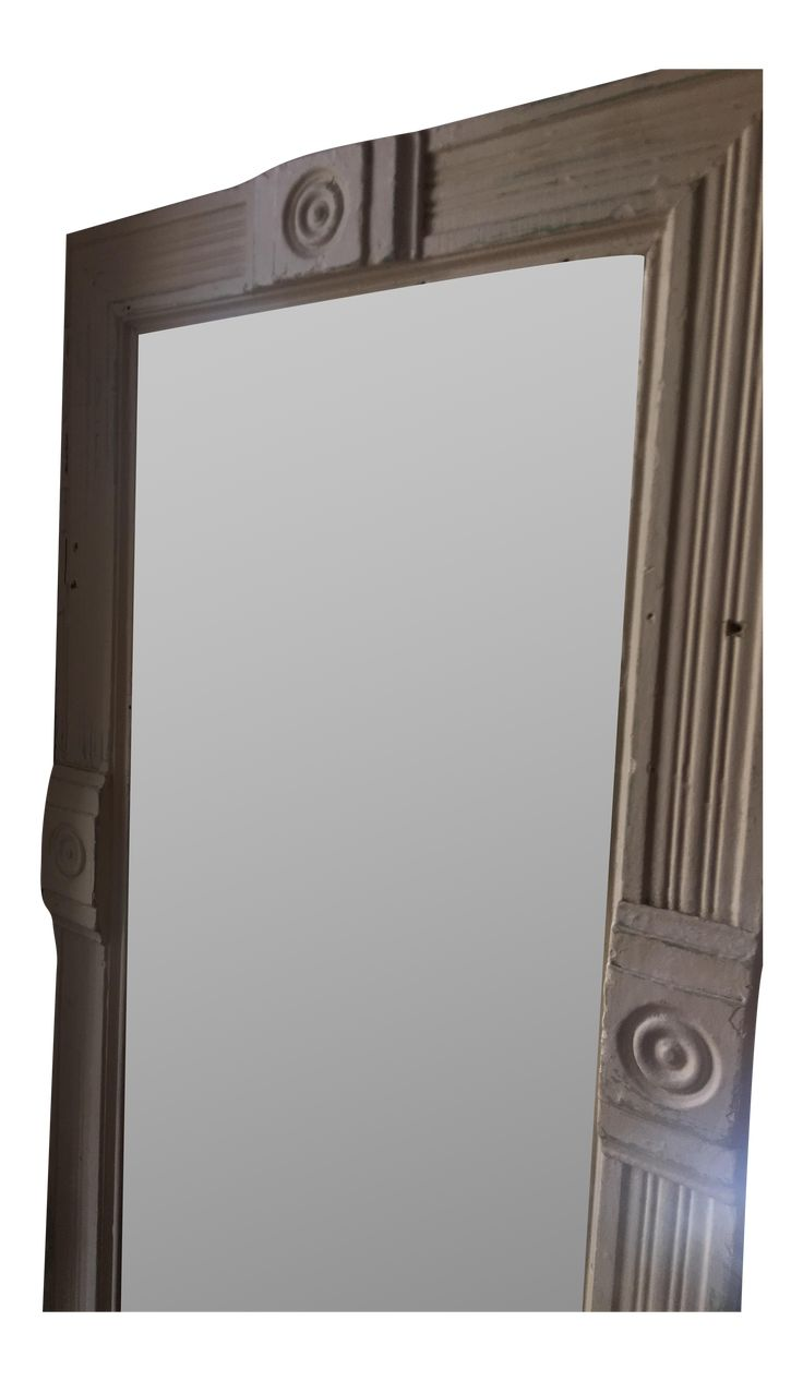 Vintage full length mirror. Cream colored. Loved, but in good condition.