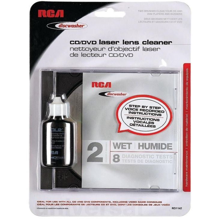 DISCWASHER RD1142 CD-DVD Laser Lens Cleaners (2-Brush; Wet)