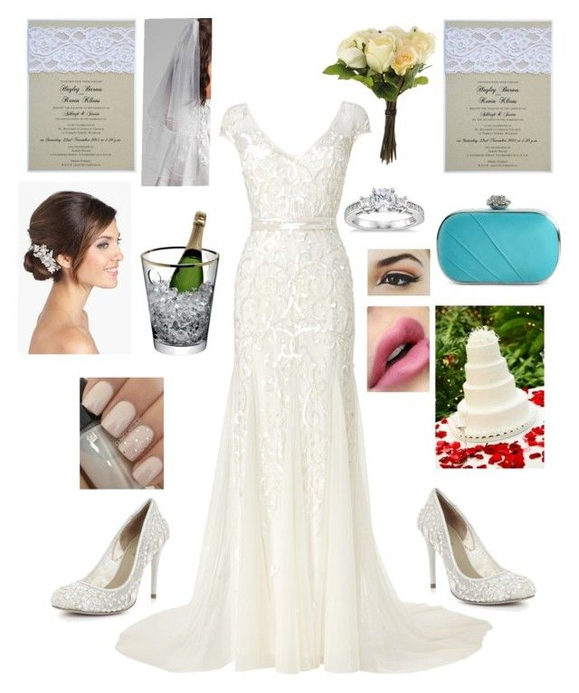 Wedding Day by taylor0016 on Polyvore featuring polyvore, fashion, style, Phase Eight, BCBGMAXAZRIA, Lulu Townsend, Blue Nile, Wedding Belles New York, Nina, LSA International, OKA and clothing