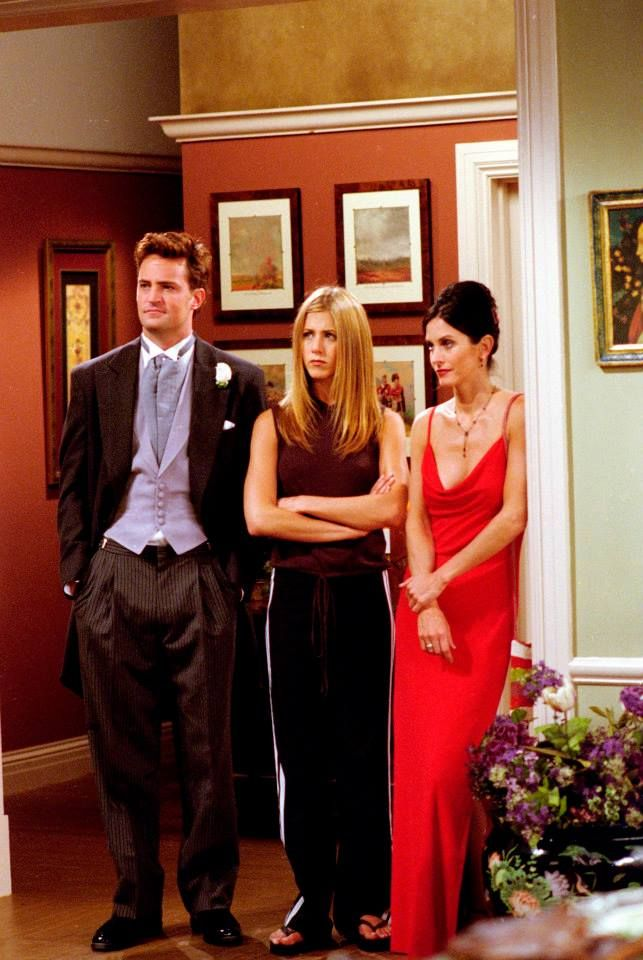Chandler, Rachel & Monica