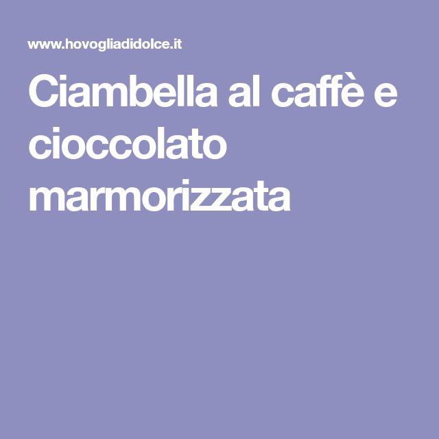 Ciambella al caffè e cioccolato marmorizzata
