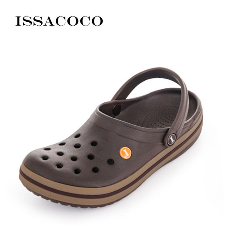 ISSACOCO Summer Slippers Holes Shoes Sandals Men&#…