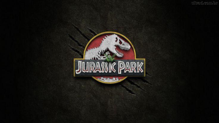 "Jurassic Park wallpaper (four scratches). Papel de parede ""Jurassic Park"" (quatro arranhões)."