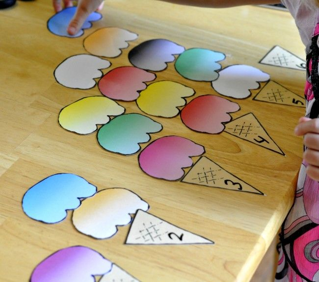 Busy Bag Idea:  Ice Cream Cones and Scoops Printables