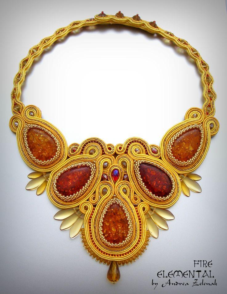FIRE - Elemental Collection - Andrea Zelenak - Andrea.Z Style - soutache