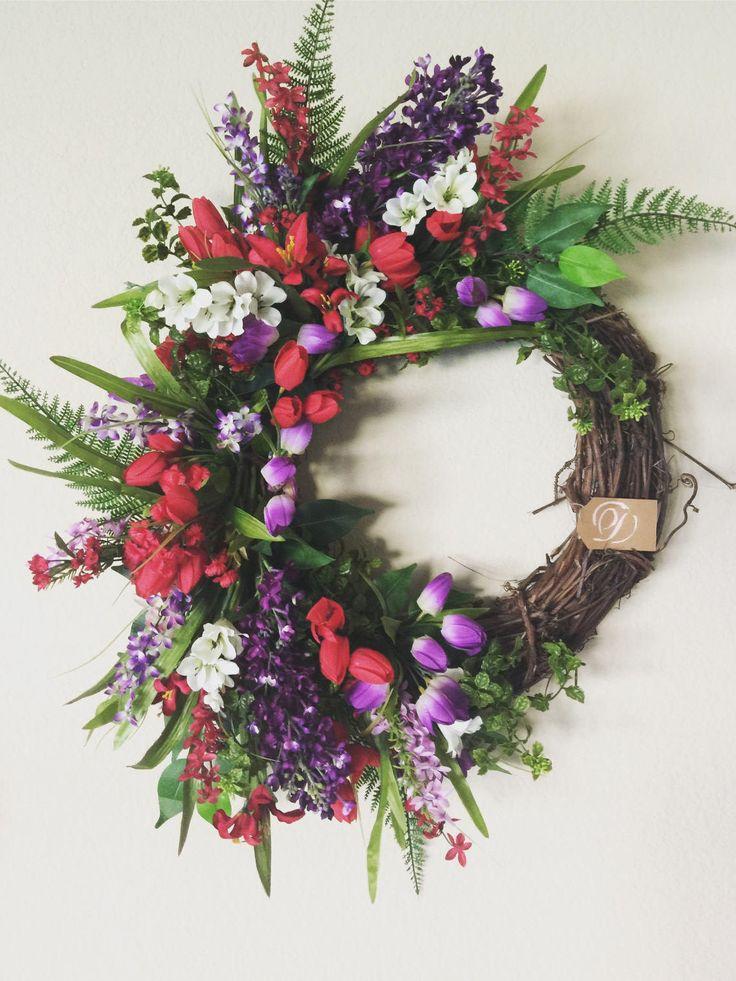 Spring Wreath For Front Door Double Wreaths Summer