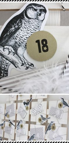 FREE Printable Bird Advent Calendar