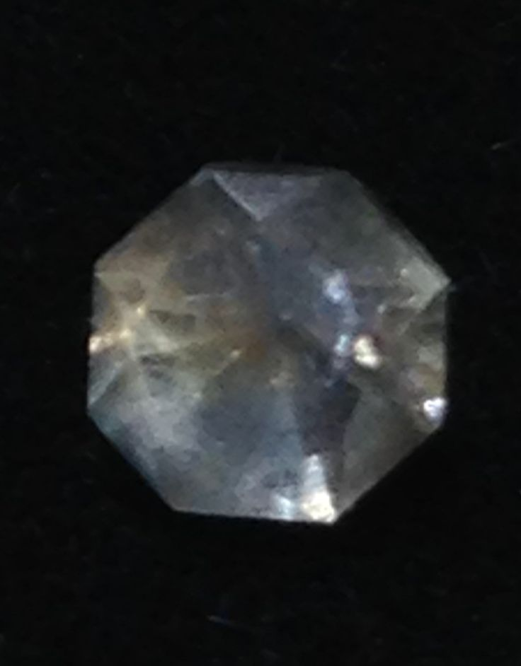 Montana Sapphire. Sent by a friend, Cut by Me.