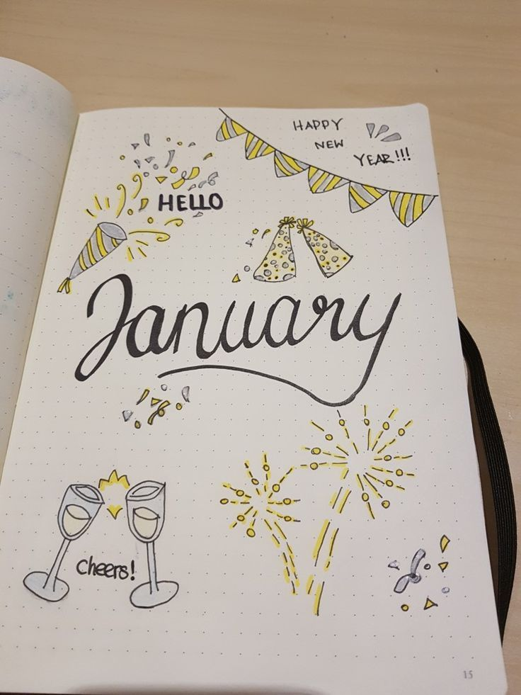 New Year ~ New Beginning ~ Inspiration for the new Bullet Journal ~ January