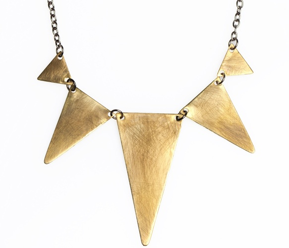 My 18kt. gold triangle neclace...