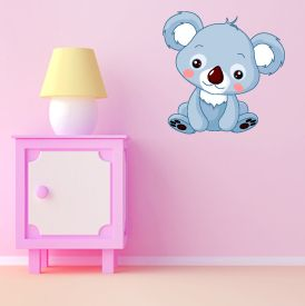 Cute Koala Bear wall sticker! #cute #nurseries #babies #interiordesign #childrensroom http://www.abodewallart.co.uk/wall-stickers/Koala-Bear-Wall-Sticker.html