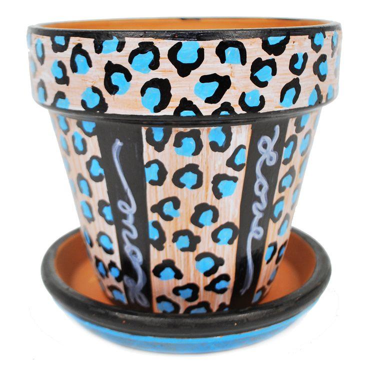 Nicole™ Crafts Leopard Print Terra Cotta Pot