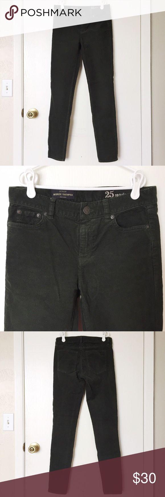 Selling this J.Crew forest green midrise toothpick corduroy jeans size 25 on Poshmark! My username is: hurricanekimi. #shopmycloset #poshmark #fashion #shopping #style #forsale #JCrew #Pants