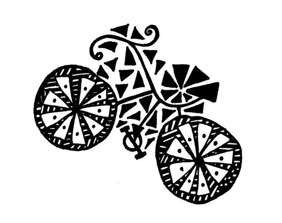 Bicycle Notecards by karmabee on Etsy