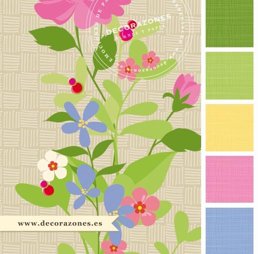Estampado de flores multicolor para los fondos de los recordatorios de comunión