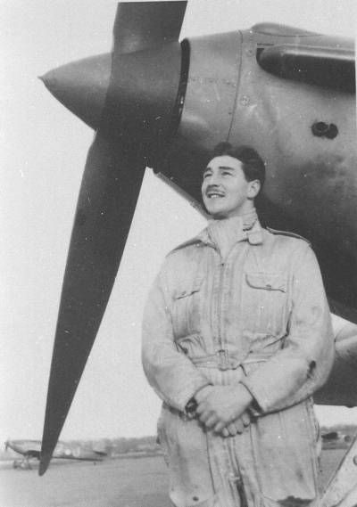 Stuart Walch in front of one of 151 Squadron's Hurricanes. As told in Australia's Few and the Battle of Britain