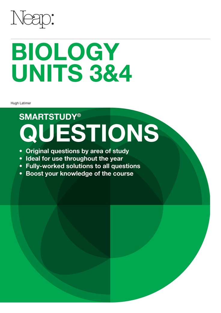 smartstudy® Biology Units 3&4 Questions Guides