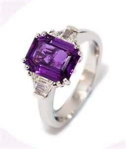 purple engagement rings