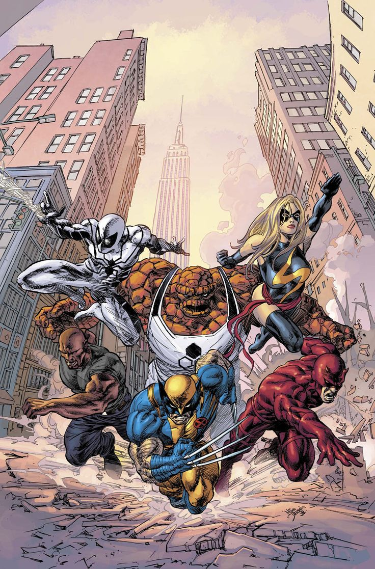 New Avengers, art by Mike Deodato