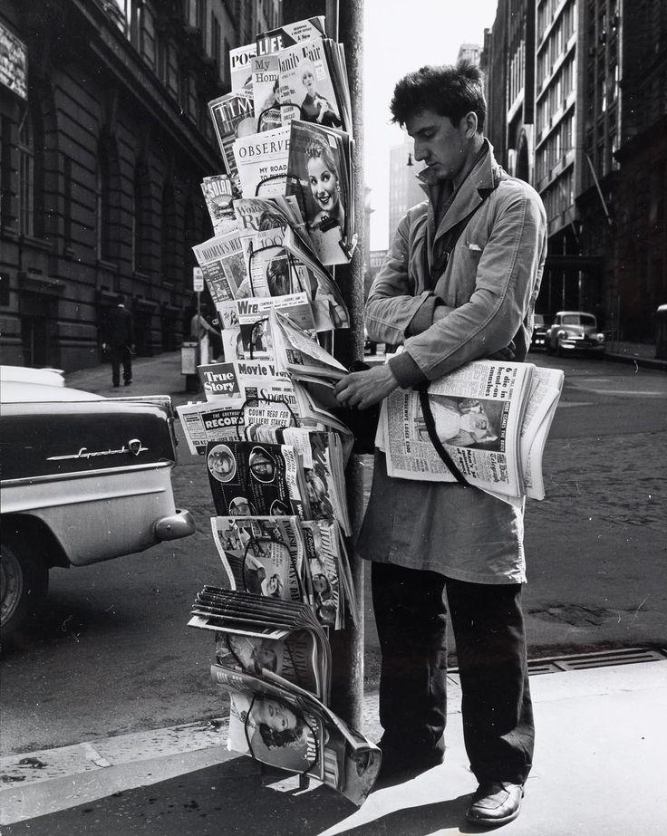 The paper seller, 1960's, Max Dupain. Australian (1911 - 1992)