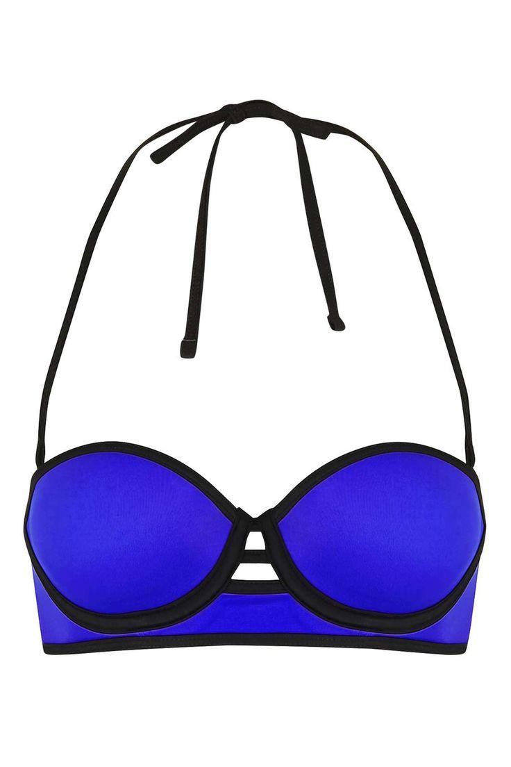 Cut-Out Long-Line Bikini Top