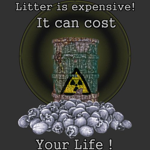 Litter is Expensive is a T Shirt designed by artbymimulux to illustrate your life and is available at Design By Humans