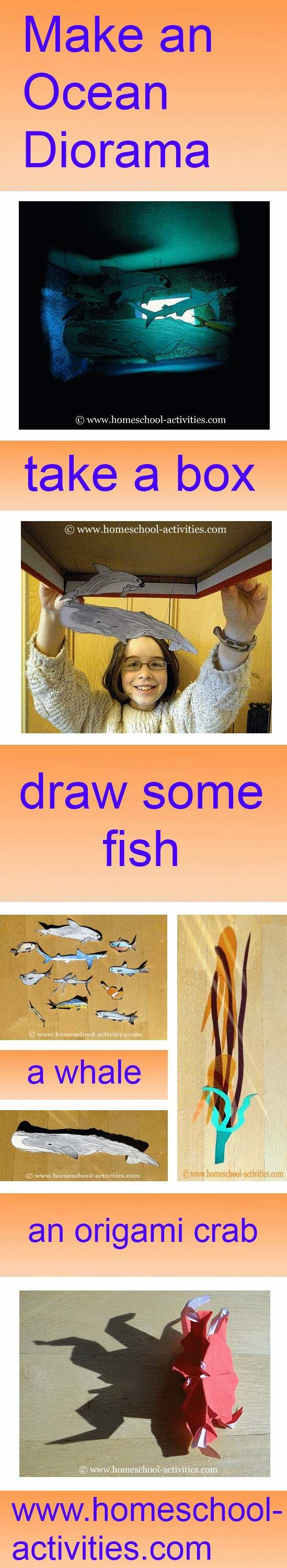 Make an ocean #diorama for kids from a shoe box.  Fun ideas from one of the very few second generation homeschooling families. www.homeschool-activities.com/ocean-diorama.html