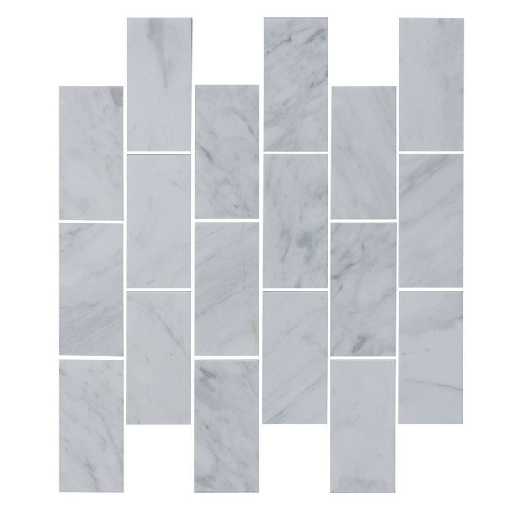 Shop Faber  12-in x 14-in Silver Lining Polished Marble Mosaic Indoor/Outdoor Subway Wall Tile at Lowe's Canada. Find our selection of backsplashes & wall tile at the lowest price guaranteed with price match + 10% off.