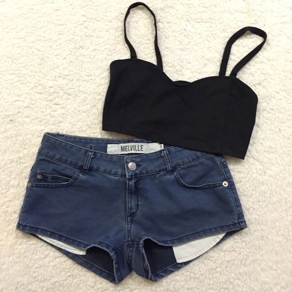 Brandy Melville shorts Only worn a couple of times. Size 38, the waistband measures  just over 13 inches across. The top is also for sale! Brandy Melville Shorts