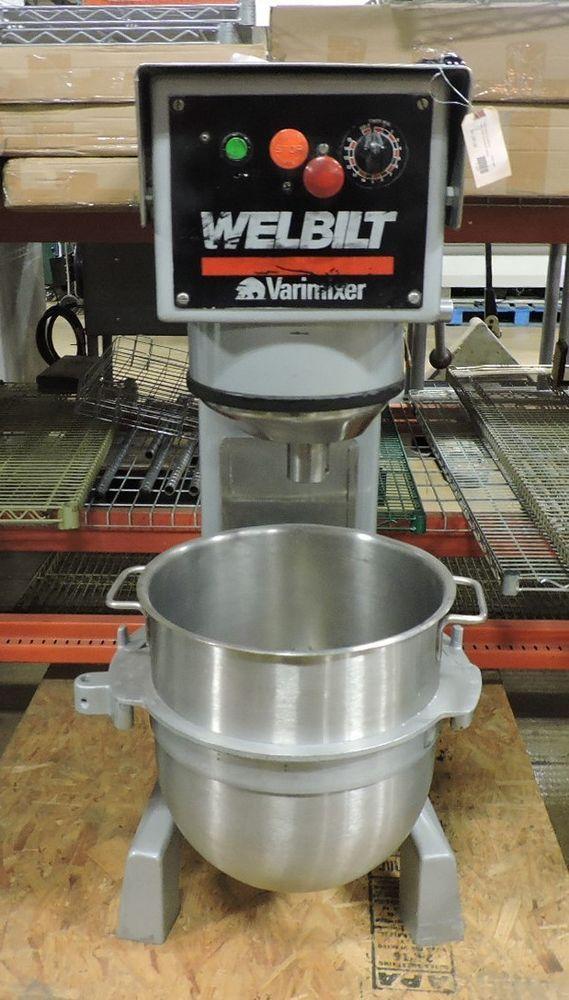 Welbilt Varimixer W40p Commercial 40 Qt Planetary Mixer With 3 Attachments Welbiltvarimixer Planetary Mixer Used Restaurant Equipment Mixer