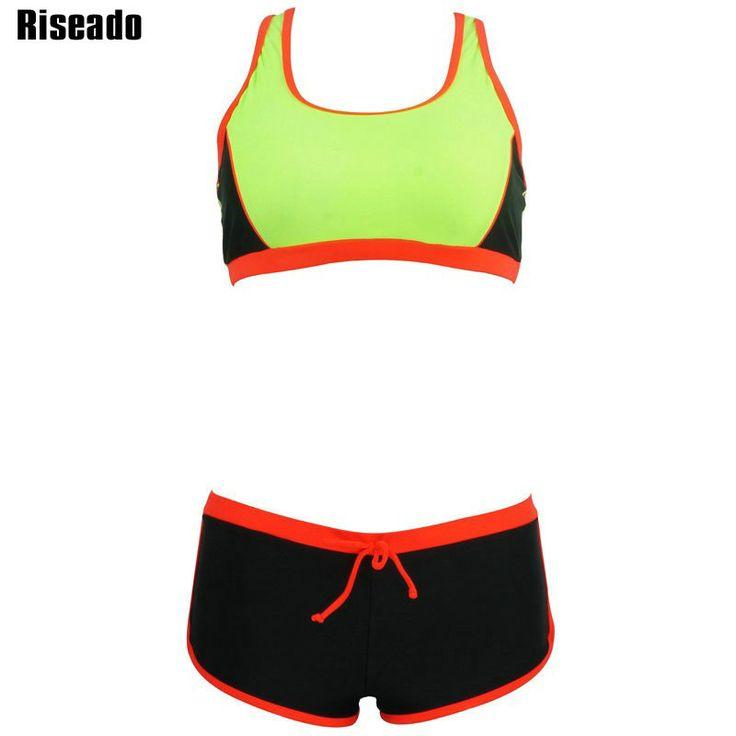 Summer New Two Piece Swimsuit Brand Swimwear Women Sports Swimming Bathing Suits Beachwear